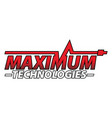maximum technologies vector image vector image