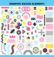 memphis design elements set vector image