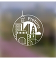 Minimalist round icon of Pretoria South Africa vector image vector image