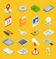 mobile development icons set vector image