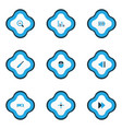 multimedia icons colored set with charging vector image vector image