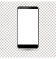 new phone front black drawing eps10 format vector image vector image