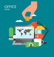 office work flat style design vector image vector image