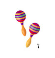 pair of maracas percussion musical instrument vector image