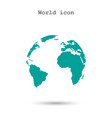 pictograph of globe icon vector image