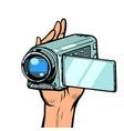 portable hand-held video camera vector image vector image