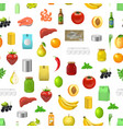 realistic 3d detailed food product seamless vector image vector image