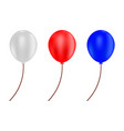 red blue and white balloons vector image