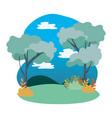 rural landscape icon vector image