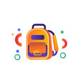 school backpack education concept back to school vector image