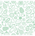 seamless pattern fruit and vegetables vector image vector image