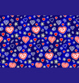 seamless pattern with hearts and stars in the nght vector image