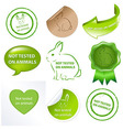 Set Against Testing For Animals vector image vector image