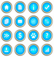 Set of blue buttons vector image vector image