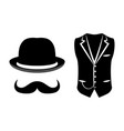 set of items of a gentleman vector image vector image