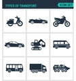 Set of modern icons Types of transport vector image vector image