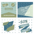 set of sale banner big sale banner template vector image vector image