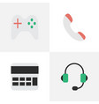 set of simple gadget icons elements accounting vector image vector image