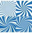 set of spiral background vector image