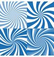 set spiral background vector image