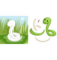 snake puzzle vector image vector image