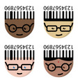 the cartoon characters with glasses vector image vector image
