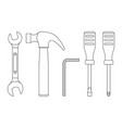 tools line icons vector image vector image