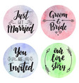 wedding day marriage proposal phrases text vector image vector image