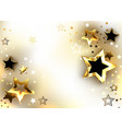 white background with gold stars vector image vector image