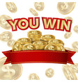 you win screen isolated ackground for vector image vector image