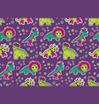 dinosaurs pink and purple seamless pattern vector image