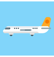 flat style of aircraft vector image