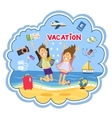Vacation at the seaside vector image