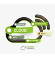 cloud storage icon infographic concept vector image