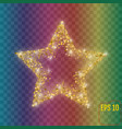 gold star with five rays elegant element gold vector image