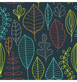 Seamless pattern on leaves theme Autumn seamless vector image