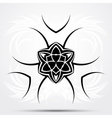 Abstract tribal tattoo vector image vector image
