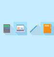 accounting icon set flat style vector image