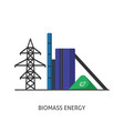 biomass power station icon in flat style vector image