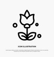 bouquet flowers present line icon vector image vector image