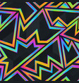 bright neon geometric seamless pattern vector image vector image