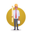 Builder man icon engeneer occupation arcitect