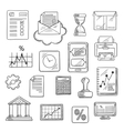 Business financial and office sketched icons vector image