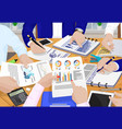 business people and papers vector image vector image