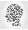 Butterfly a head vector image vector image
