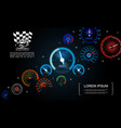 car dashboard gauges template vector image vector image