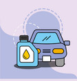car service maintenance vehicle engine oil vector image vector image