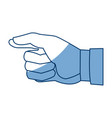 cartoon hand man gesture image vector image vector image