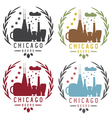 chicago beer festival vintage emblems set vector image