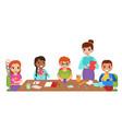 children craft with teacher kids art hobby